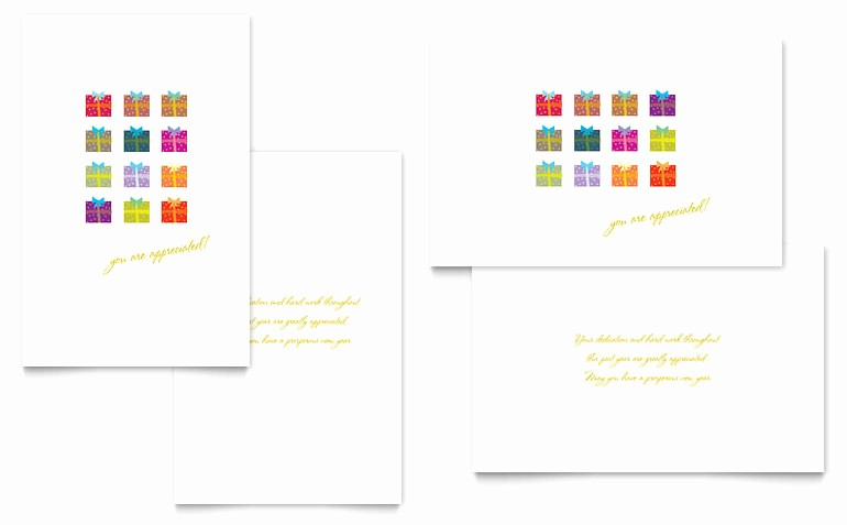 Microsoft Word Christmas Card Template Beautiful Christmas Presents Greeting Card Template Word & Publisher