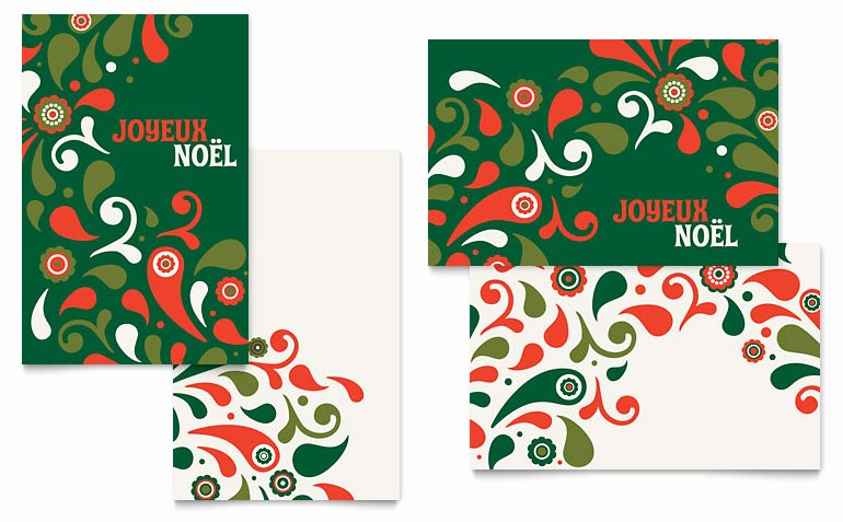 Microsoft Word Christmas Card Template Beautiful Festive Holiday Greeting Card Template Word & Publisher
