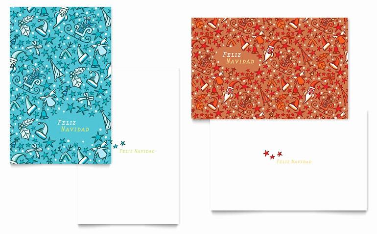 Microsoft Word Christmas Card Template Elegant Christmas Confetti Greeting Card Template Word & Publisher