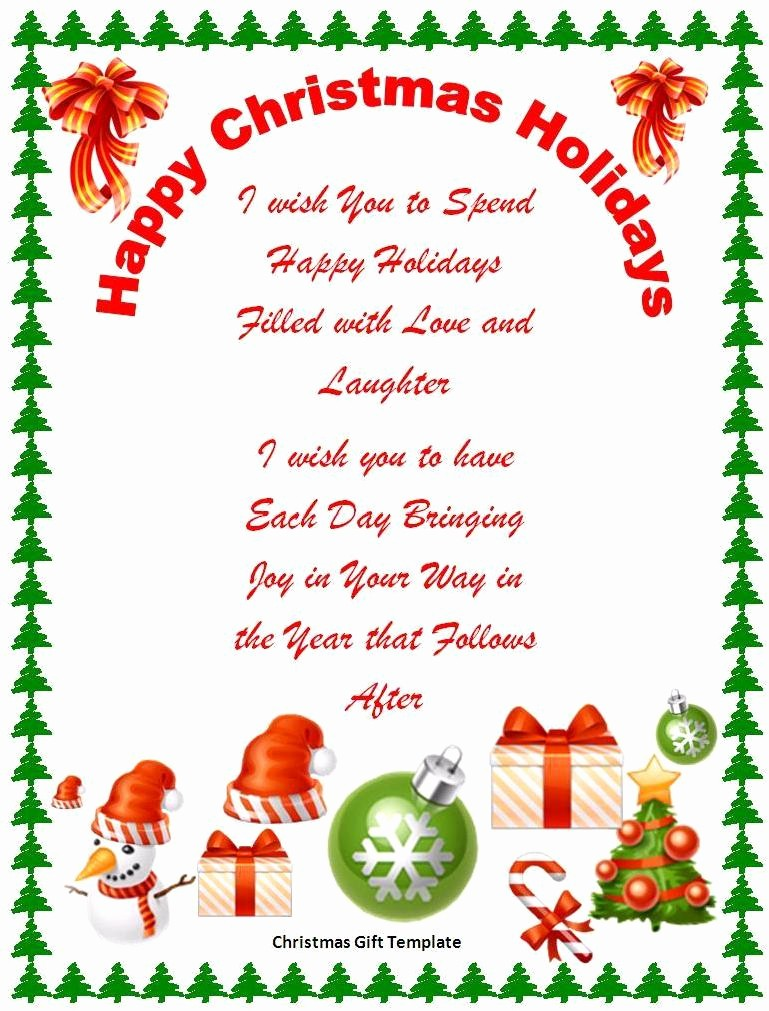 Microsoft Word Christmas Card Template Fresh 17 Free Christmas Templates for Word Free Word