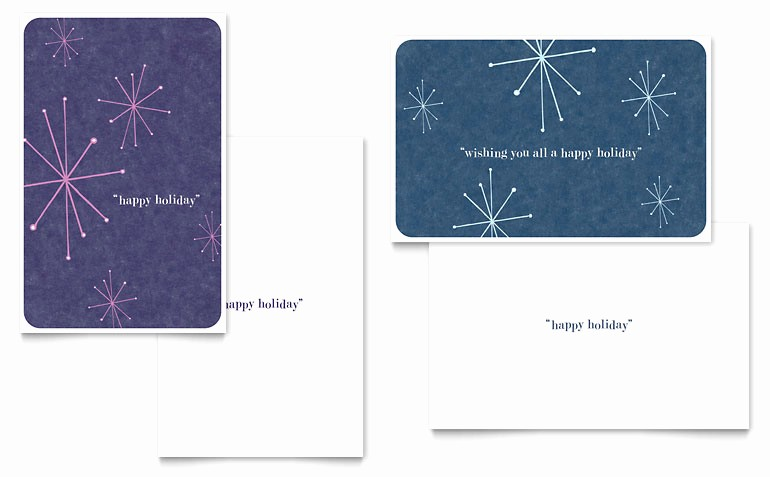 Microsoft Word Christmas Card Template Lovely Snowflake Wishes Greeting Card Template Word & Publisher