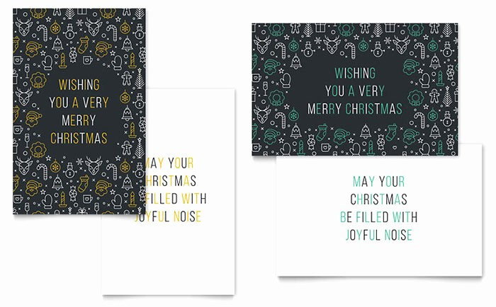 Microsoft Word Christmas Card Template Luxury Christmas Wishes Greeting Card Template Word & Publisher
