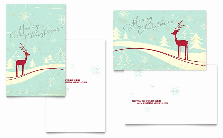 Microsoft Word Christmas Card Template New Antique Deer Greeting Card Template Word & Publisher