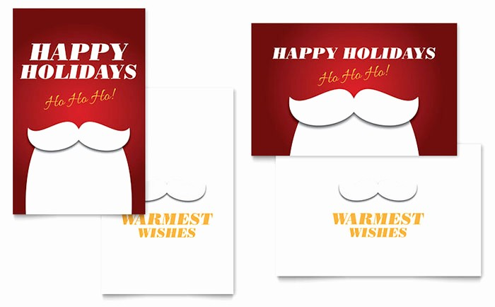 Microsoft Word Christmas Card Template New Ho Ho Ho Greeting Card Template Word & Publisher