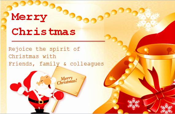 Microsoft Word Christmas Card Templates Awesome Ms Word Colorful Christmas Card Templates