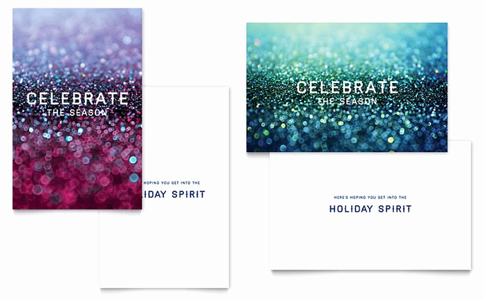 Microsoft Word Christmas Card Templates Beautiful Glittering Celebration Greeting Card Template Word