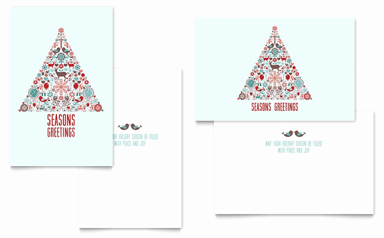 Microsoft Word Christmas Card Templates Beautiful Holiday Art Greeting Card Template Word & Publisher