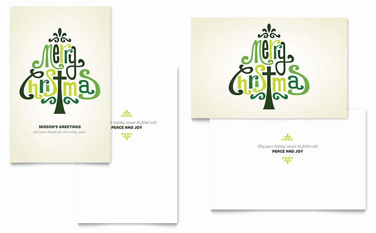 Microsoft Word Christmas Card Templates Best Of Contemporary Christian Greeting Card Template Word