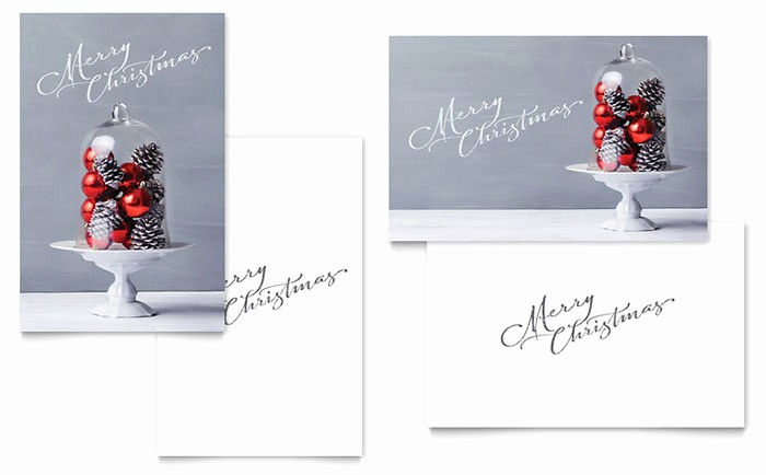 Microsoft Word Christmas Card Templates Elegant Christmas Display Greeting Card Template Word & Publisher