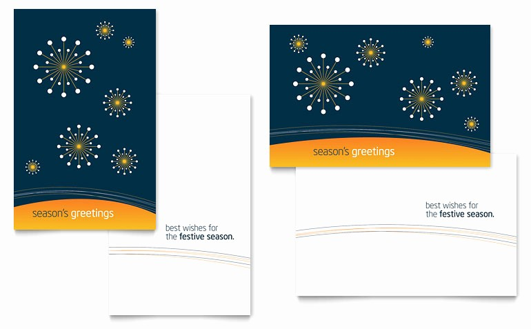 Microsoft Word Christmas Card Templates Fresh Free Greeting Card Template Download Word & Publisher