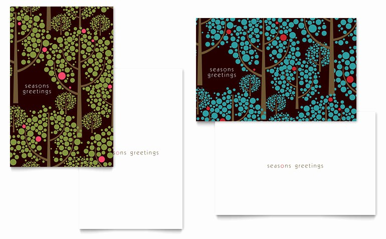 Microsoft Word Christmas Card Templates Lovely Stylish Holiday Trees Greeting Card Template Word