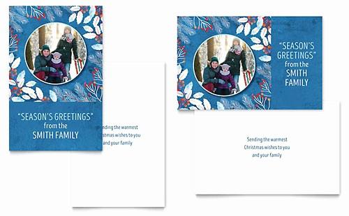 Microsoft Word Christmas Card Templates New Christmas Lights Greeting Card Template Word & Publisher