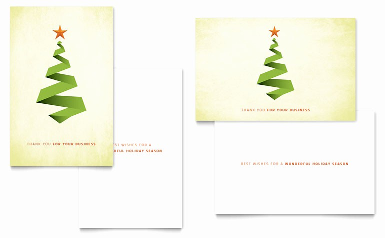 Microsoft Word Christmas Card Templates Unique Ribbon Tree Greeting Card Template Word & Publisher