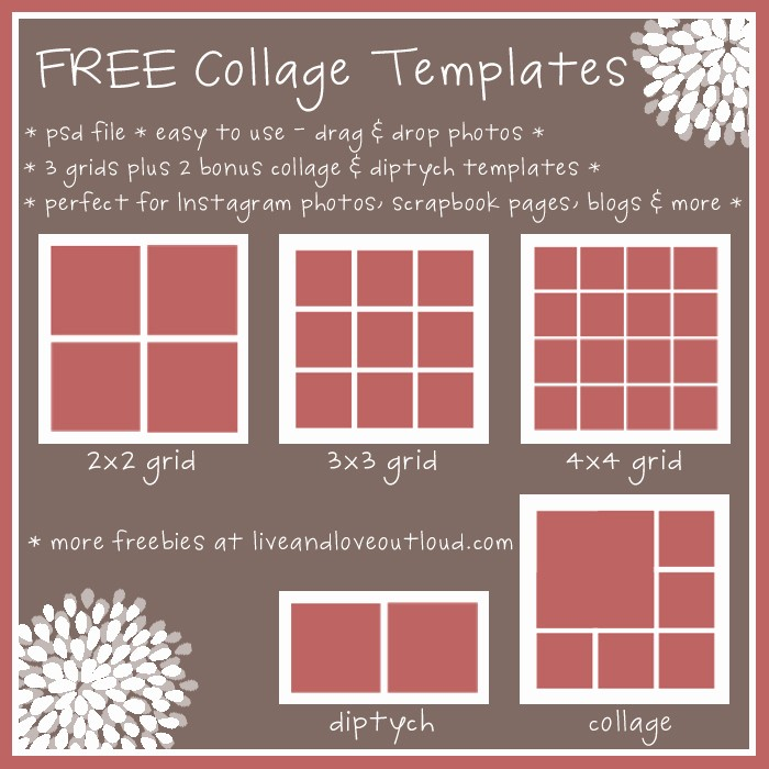 Microsoft Word Collage Template Download Lovely 8 Best Of Printable Collage Templates Free