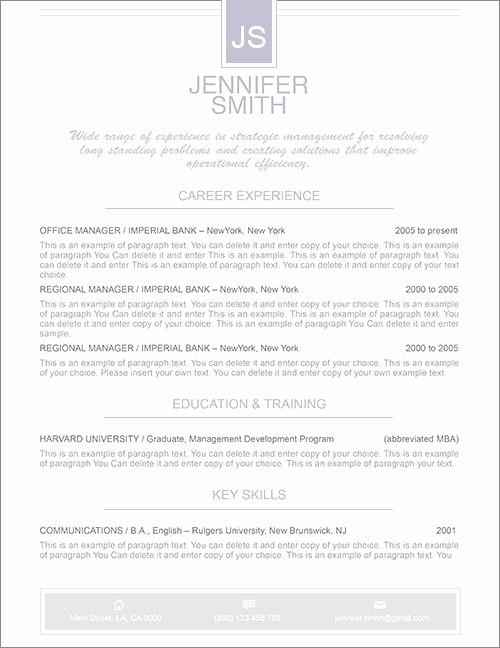 Microsoft Word Cover Letter Templates Elegant Elegant Resume Template Premium Line Of Resume & Cover