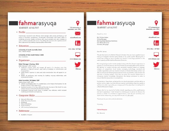 Microsoft Word Cover Letter Templates Fresh Modern Microsoft Word Resume and Cover Letter by Inkpower