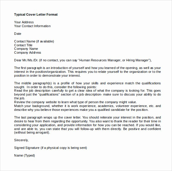 Microsoft Word Cover Letter Templates Lovely Sample Microsoft Word Cover Letter Template 18 Free