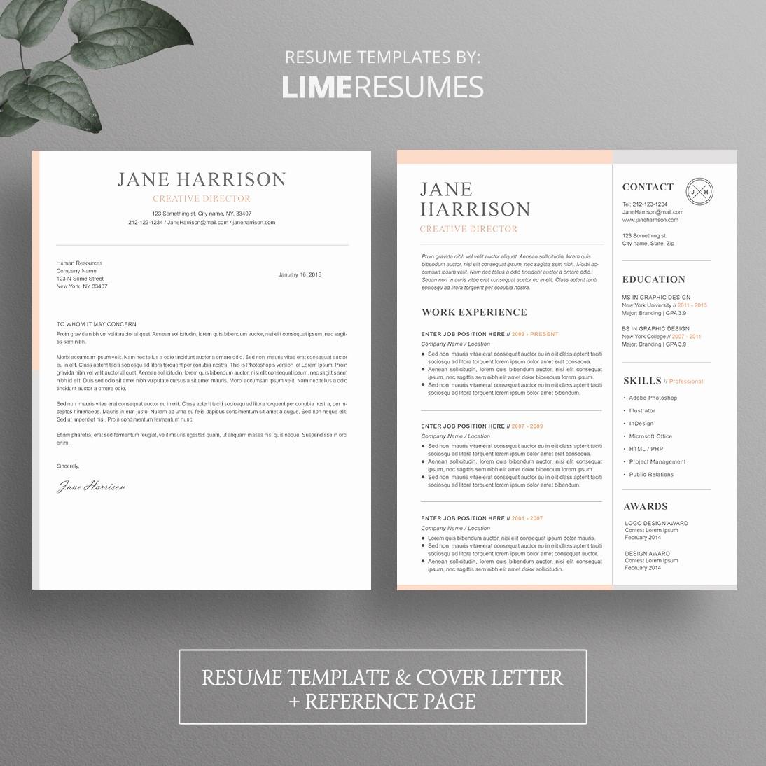 Microsoft Word Cover Letter Templates Unique Resume Template Cover Letter Template for Word