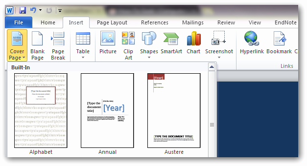 Microsoft Word Cover Pages Templates Beautiful How to Create Custom Cover Pages In Microsoft Word 2010