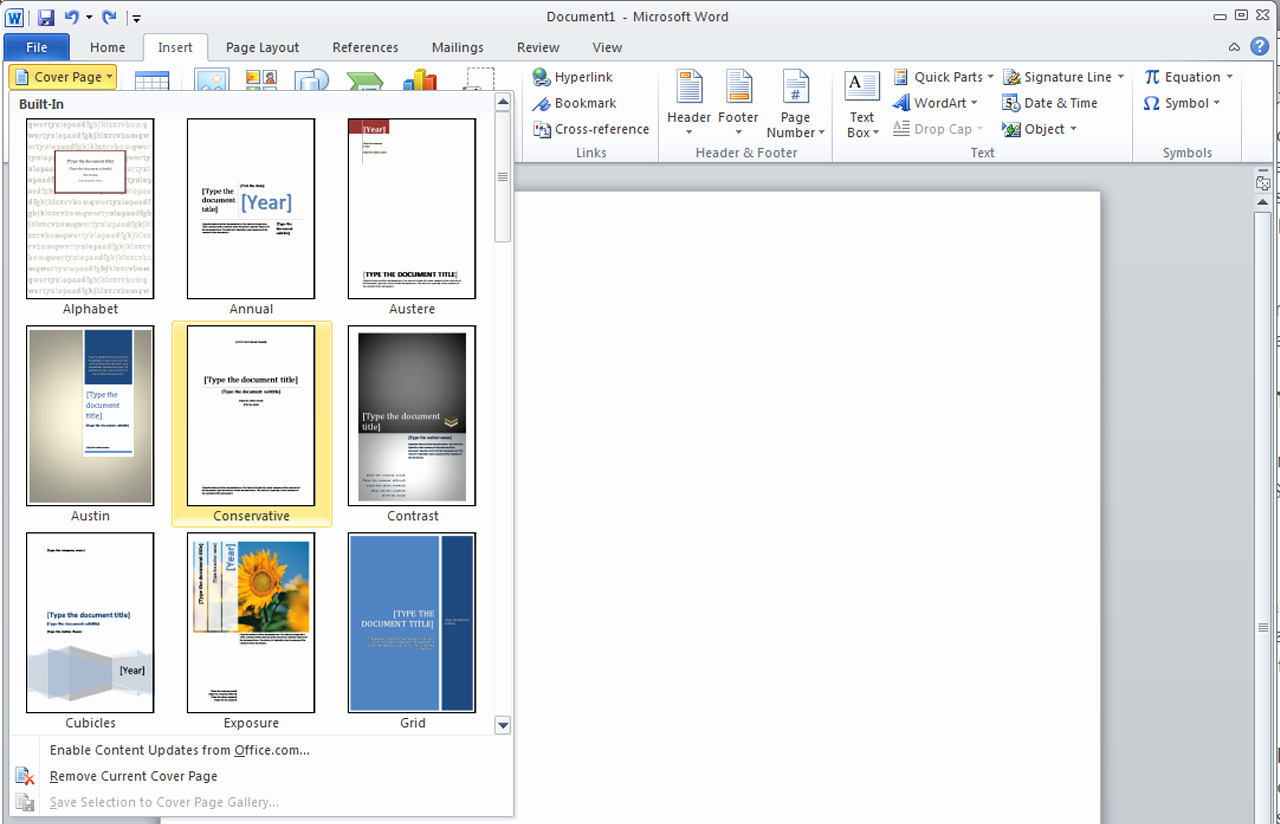 Microsoft Word Cover Pages Templates Elegant How to Insert A Cover Page Template In Word003