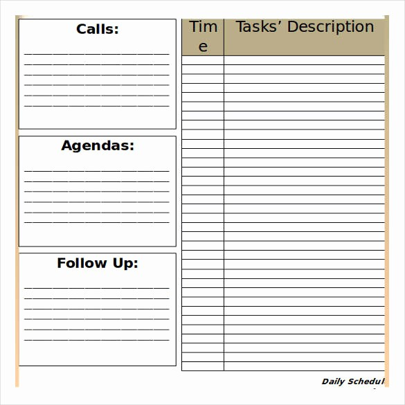 Microsoft Word Daily Schedule Template Beautiful 32 Schedule Templates – Word