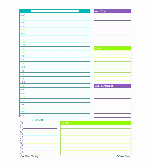 Microsoft Word Daily Schedule Template Best Of 29 Daily Planner Templates Pdf Doc
