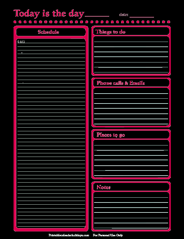 Microsoft Word Daily Schedule Template Elegant Daily Planner Template Free Printable Daily Planner for
