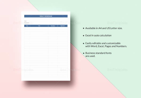 Microsoft Word Daily Schedule Template New 17 Timetable Template Free Sample Example format