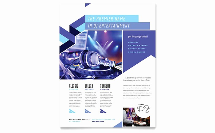 Microsoft Word event Flyer Template Awesome Dj Flyer Template Word & Publisher