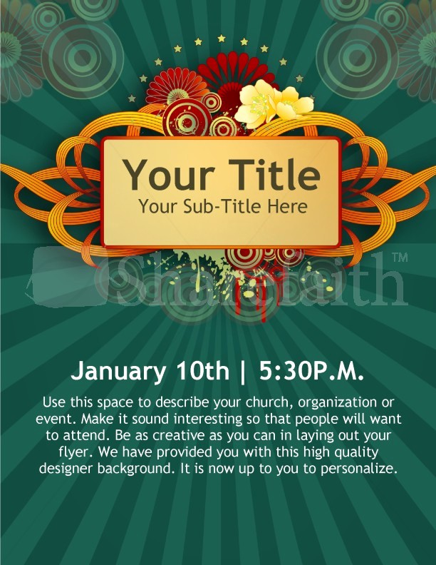 Microsoft Word event Flyer Template Awesome New Year Church event Flyer Templates Template