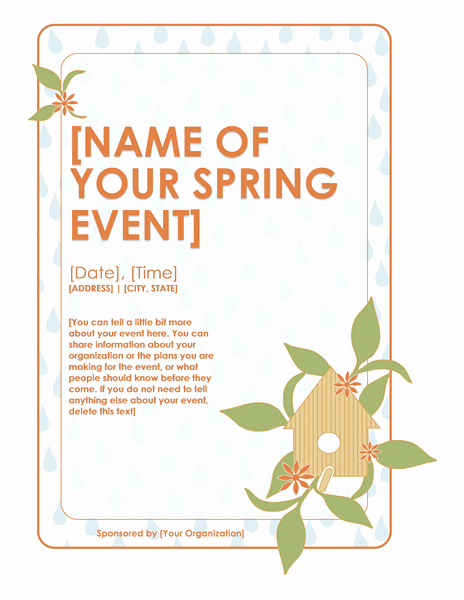 Microsoft Word event Flyer Template Beautiful Download Spring event Flyer Free Flyer Templates for