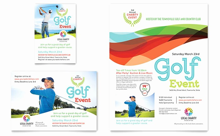 Microsoft Word event Flyer Template Best Of Charity Golf event Flyer & Ad Template Word & Publisher