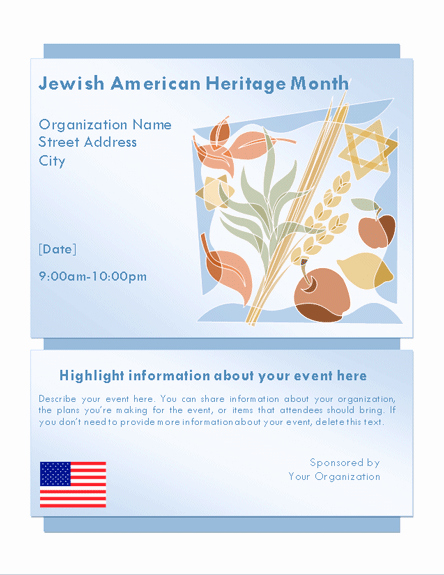 Microsoft Word event Flyer Template Inspirational Download Jewish Heritage Month event Flyer Free Flyer