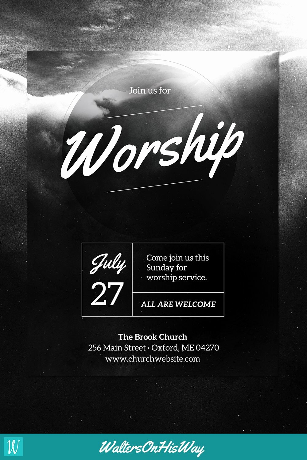 Microsoft Word event Flyer Template Luxury Diy Church event Flyer Template Heavenly Worship for