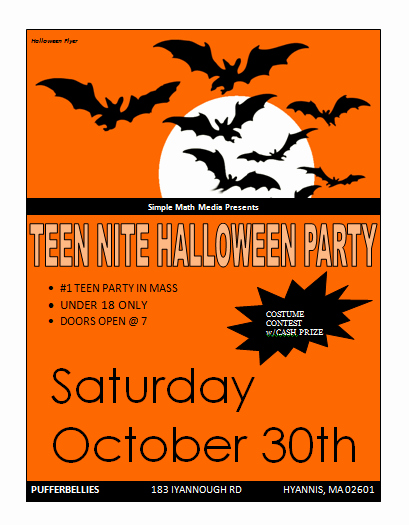 Microsoft Word event Flyer Template Unique Halloween Party Flyer Template Microsoft Word Templates