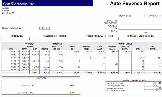 Microsoft Word Expense Report Template Fresh Expense Reports