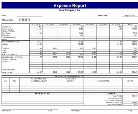 Microsoft Word Expense Report Template Luxury Expense Report Template Report Templates