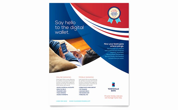 Microsoft Word Flyer Templates Free Awesome Bank Flyer Template Word & Publisher
