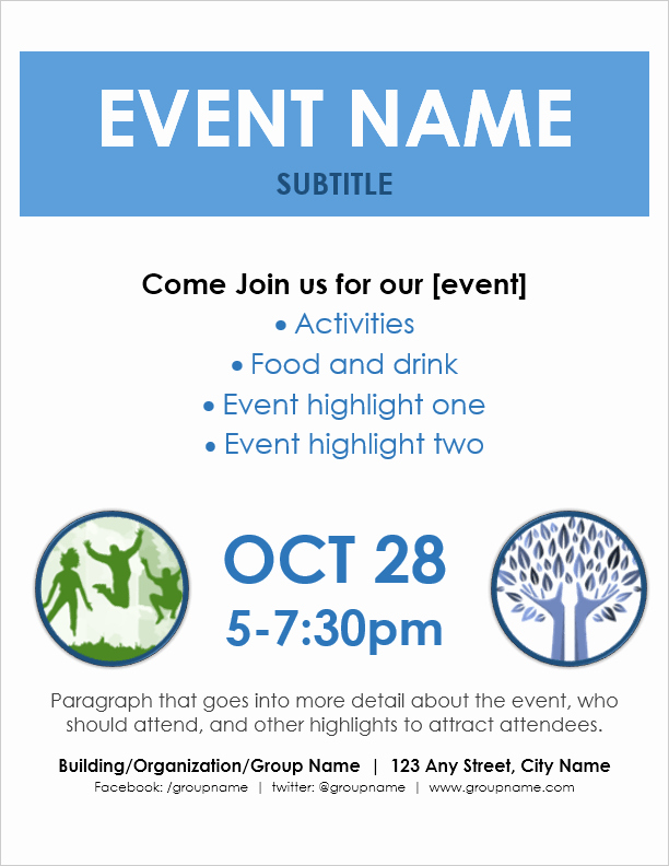 Microsoft Word Flyer Templates Free Elegant event Flyer Template for Word