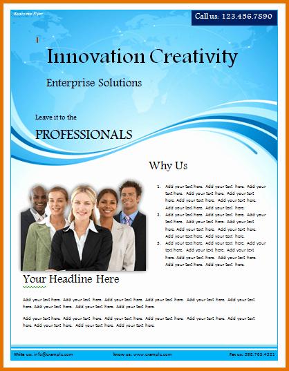 Microsoft Word Flyer Templates Free Inspirational Free Business Flyer Templates for Microsoft Word – Free