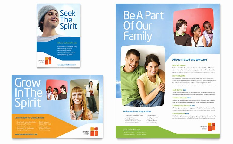 Microsoft Word Flyer Templates Free New Church Youth Ministry Flyer & Ad Template Word & Publisher