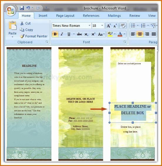 Microsoft Word Flyer Templates Free Unique 13 Free Brochure Templates for Microsoft Word
