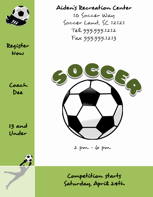 Microsoft Word Flyers Templates Free Lovely Free Microsoft Word soccer Flyer Template
