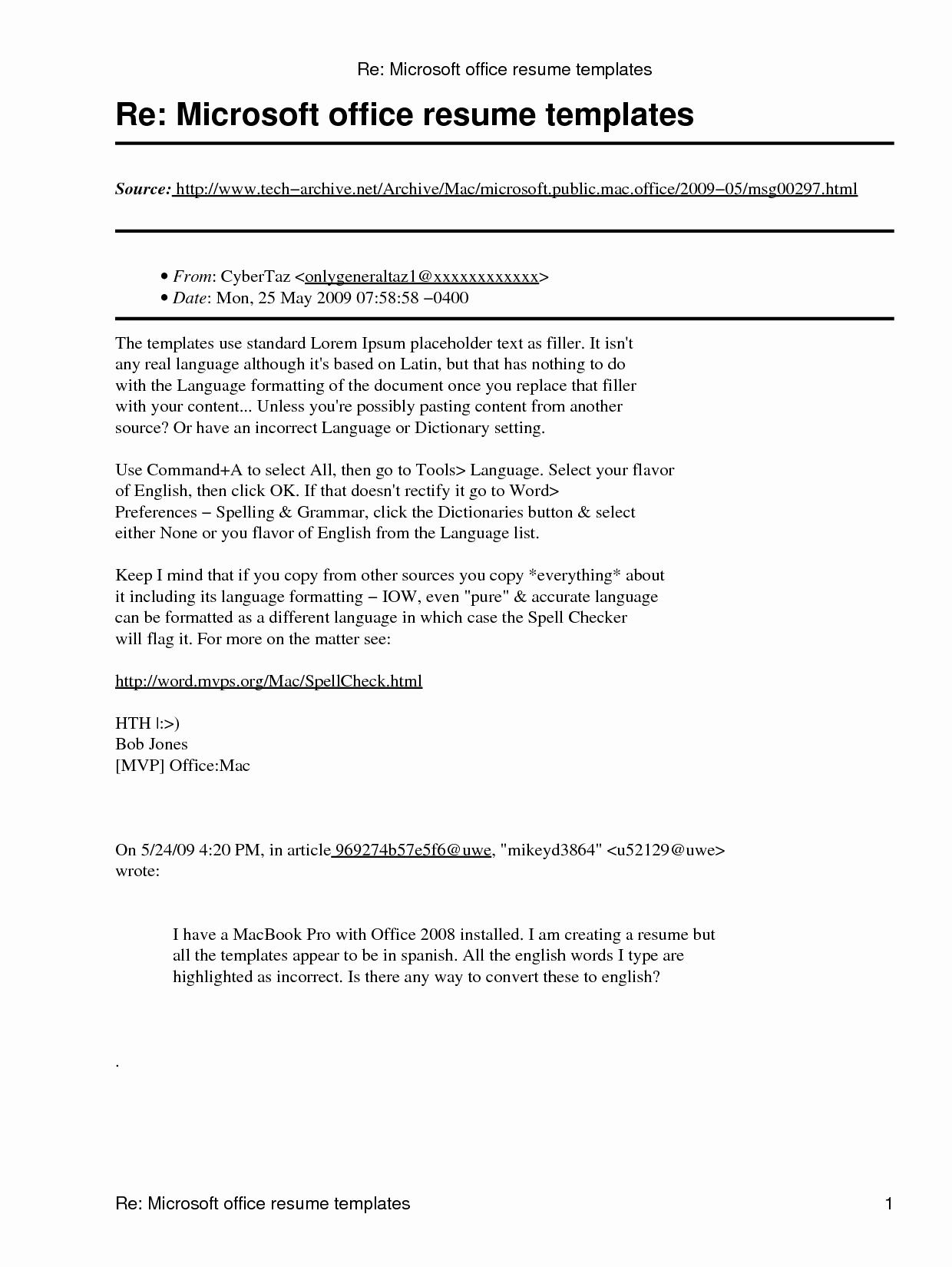 Microsoft Word Free Resume Templates Elegant Microsoft Fice Resume Template Umecareer
