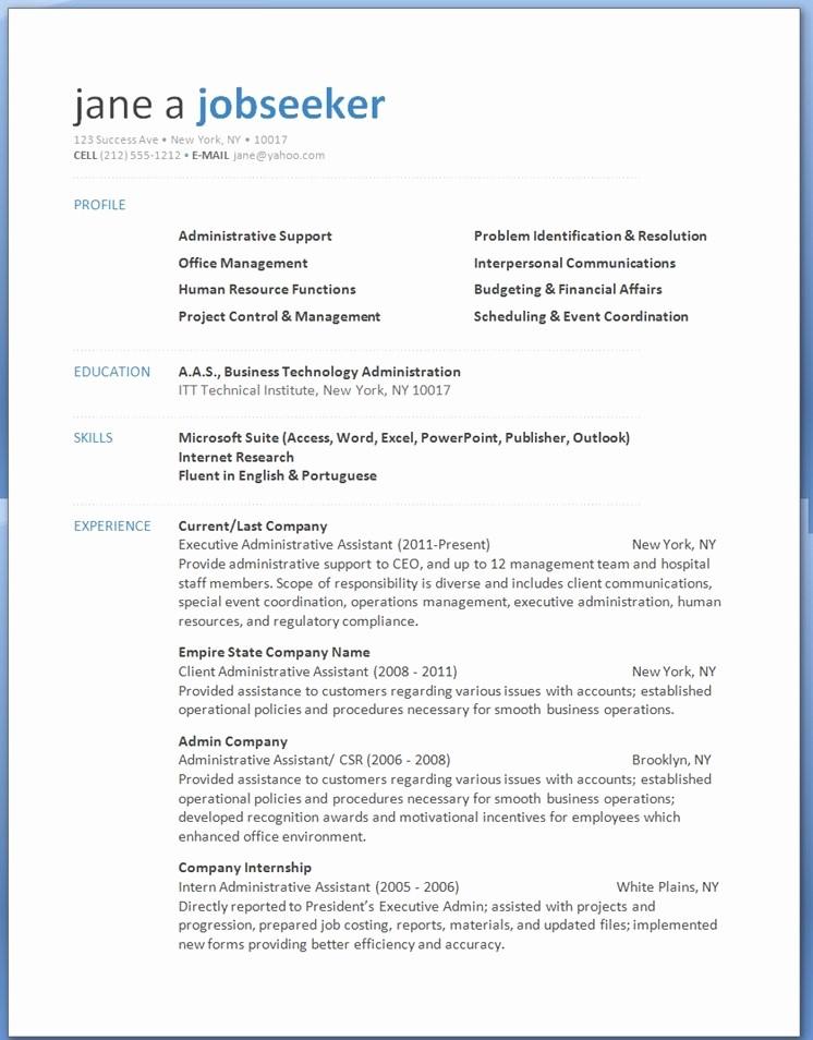 Microsoft Word Free Resume Templates Elegant Word 2013 Resume Templates