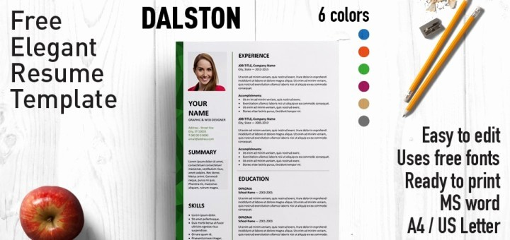 Microsoft Word Free Resume Templates Lovely Dalston Newsletter Resume Template
