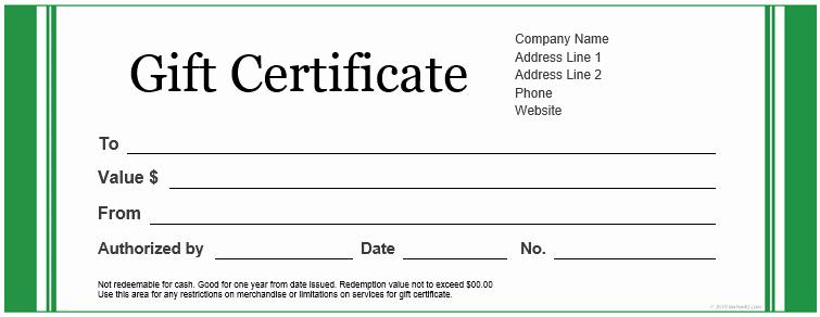 Microsoft Word Gift Card Template Beautiful 20 Printable Gift Certificates
