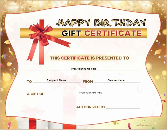 Microsoft Word Gift Card Template Beautiful Birthday Gift Certificate Sample Templates for Word