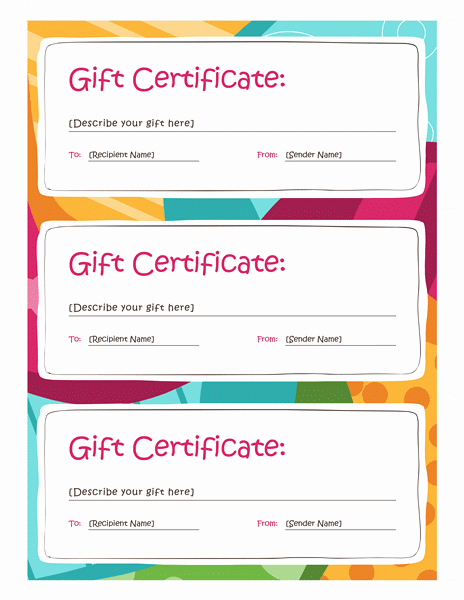 Microsoft Word Gift Card Template Beautiful Gift Certificate Template Word 2013 Free Certificate