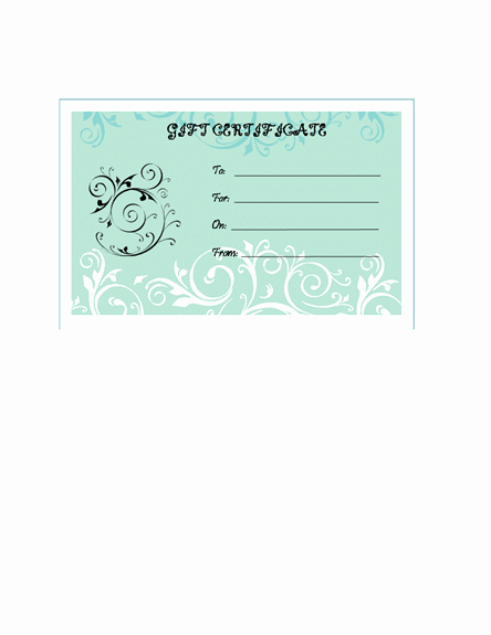Microsoft Word Gift Card Template Best Of Microsoft Word Blank Gift Certificate Template